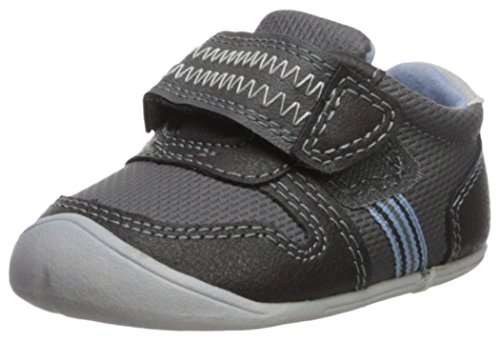 Carter's Every Step Boys' Stage 1 Crawl, Jamison-CB Sneaker, Grey, 3.0 M US (6-9 Months)