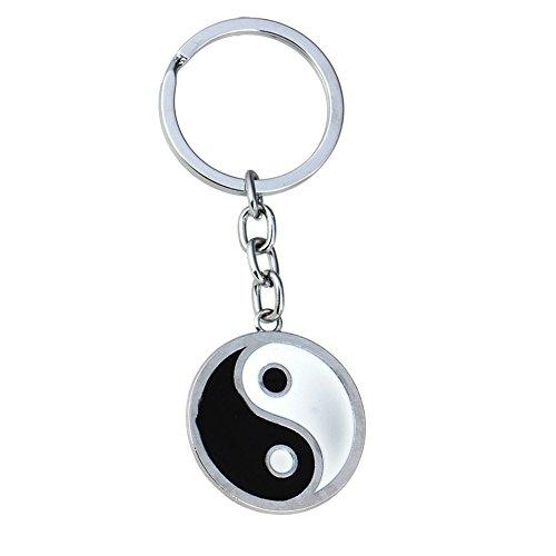 Yin Yang Keychain Enamel Best Friends BFF Friendship Pendants Keyring