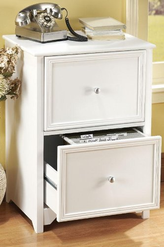 Delightful Oxford File Cabinet, 2 DRAWER, WHITE