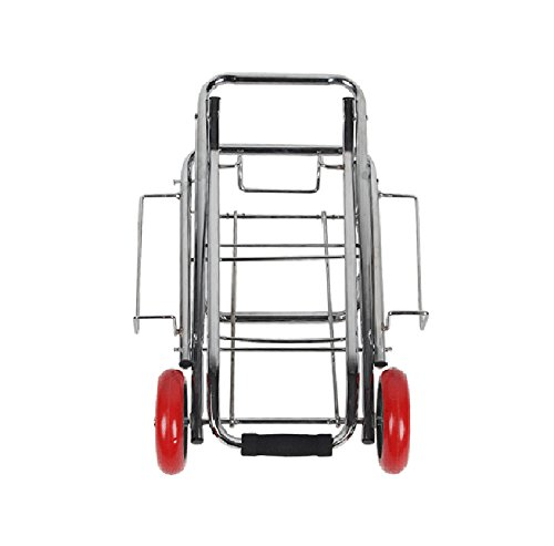 ZGL Pull Rod Car Trolley Supermarket Shopping Cart Folding Pull Rod Car Baggage Trailer Portable Groceries Trolley Save Effort Pull Truck (Size : S) by Trailer Cart (Image #4)
