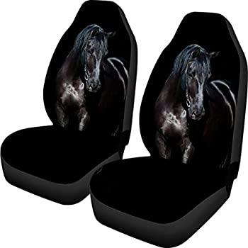 Amazon Com Black Back Bench Seat Cover Set Mustang