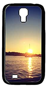 The Sea of Sunset Silver DIY Hard Shell Black Samsung Galaxy S4 I9500 Case Best Designed Protection By Custom Service