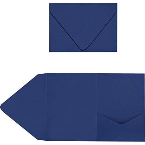 New A7 Pocket Invitations - Navy Blue (60 Qty.)