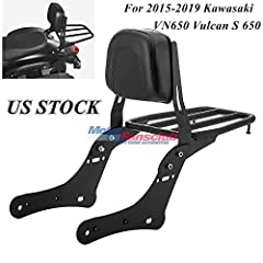 MotorFansClub Sissy Bar Backrest Luggage Rear Rack Passenger Back Seat Cushion for 2015-2019 Kawasaki VN650 Vulcan S 650  Features:  🔧 Its stylish design is perfect to decorate your motorcycle.  🔧 Easy to install, Good Working Condition.  🔧 F...