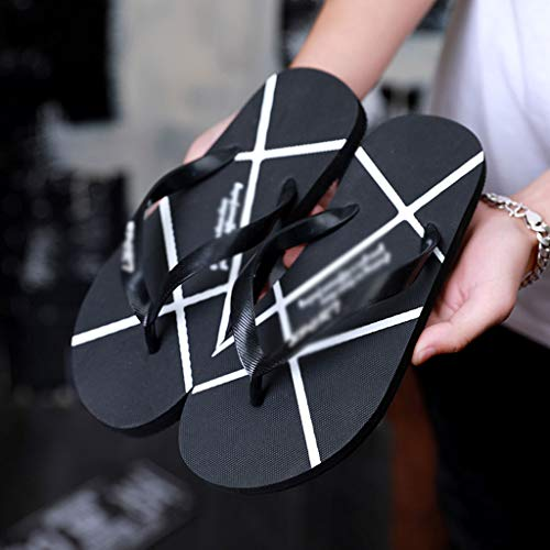 HUYP De Personalidad Moda Negras 42 Chanclas Zapatillas Simples De Tamaño La Verano Zapatos Playa De p4qngwTwF