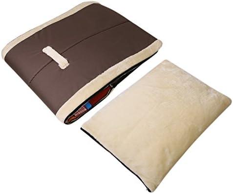 ANCOZ Nid d'animal de Compagnie et canapé-lit, Maison de Chat de Chien Pliable antidérapante et Hiver Doux Matelas Confortable 4 Style 3 Taille (M, Marron)
