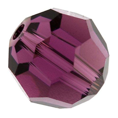 6mm Amethyst 5000 Round Swarovski Crystal Beads - Pack Of