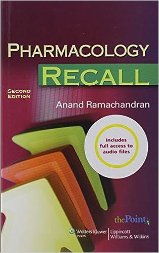 pharmacology 2 recall ramachandra