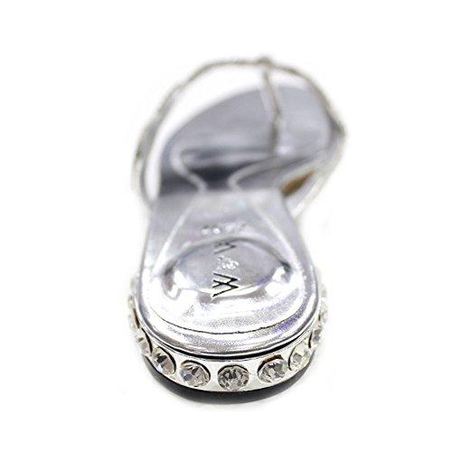 mit Comfort Schuhe Größe leicht amp; Gemz Super W Silber Abend Frauen W Party Sandalen Damen wHT4xSBqAa
