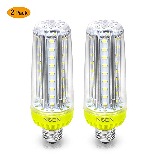 LED Corn Light Bulbs, 20 Watt (200W Equivalent 6000K 2320Lumen), Large Area Cool Daylight White Corn Bulb, E26 for Indoor Outdoor Garage Warehouse Factory Workshop Barn Backyard Upgraded