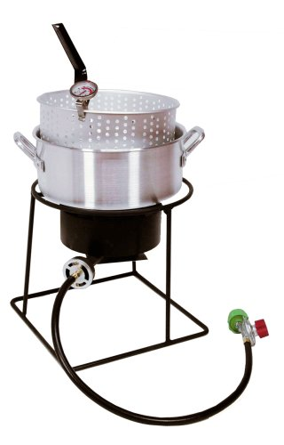 - King Kooker 1205 12-Inch Propane Outdoor Cooker Set with Fry Pan
