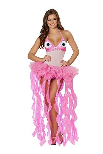2 Piece Sexy Jellyfish Seacreature Bodysuit w/ Tutu Tentacle Skirt Costume (Sea Creature Costumes)