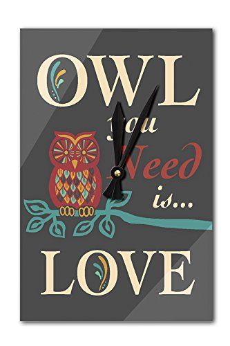 Owl You Need Is Love (Acrylic Wall Clock)
