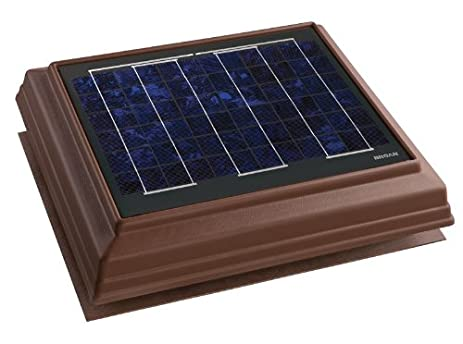 Broan 355SOBR Surface Mount Solar Powered Attic Ventilator, Brown