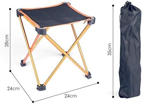 Chaise Longues Alliage D'aluminium Camping Pliant Chaise Compact Simple Petit Tabouret En Plein Air Portable Ménage Siège, Or