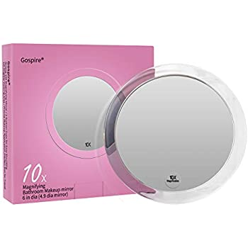 Amazon Com 10x Magnifying Mirror 6 Inch With 3 Suction