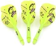 CUESOUL ROST Integrated Dart Shaft and Flights Pear-Teardrop Shape,Set of 3 pcs Cute Girl Pattern