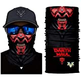 3D Mr.Darth Maul Face Tube Neck Face Scarf Lower Half Face Mask Motorcycle Bicycle Shield Sun Air Soft Outdoor Biker…