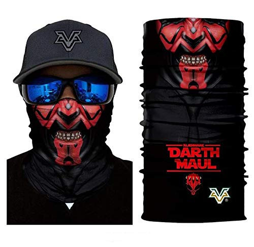 3D Mr.Darth Maul Face Tube Neck Face Scarf Lower Half Face Mask Motorcycle Bicycle Shield Sun Air Soft Outdoor Biker Riding Masks No.69 for $<!--$17.50-->