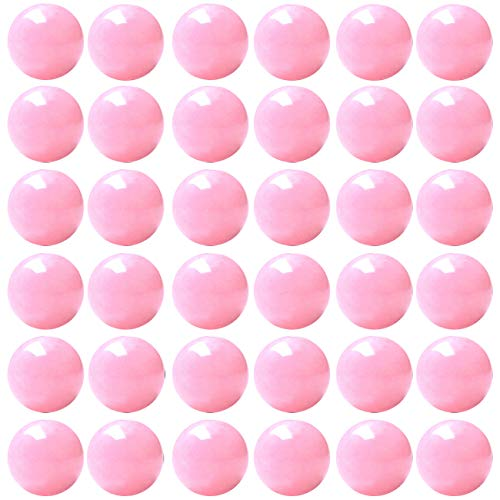 Natural Stone Beads 100pcs 8mm Rose Quartz Round Genuine Real Stone Beading Loose Gemstone Hole Size 1mm DIY Charm Smooth Beads for Bracelet Necklace Earrings Jewelry Making (Rose Quartz)