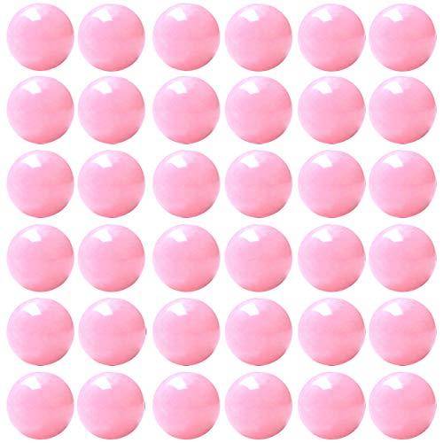 Natural Stone Beads 100pcs 10mm Rose Quartz Round Genuine Real Stone Beading Loose Gemstone Hole Size 1mm DIY Smooth Beads for Bracelet Necklace Earrings Jewelry Making (Rose Quartz, 10mm) ()