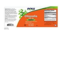 NOW Chlorella 1000 mg,120 Tablets