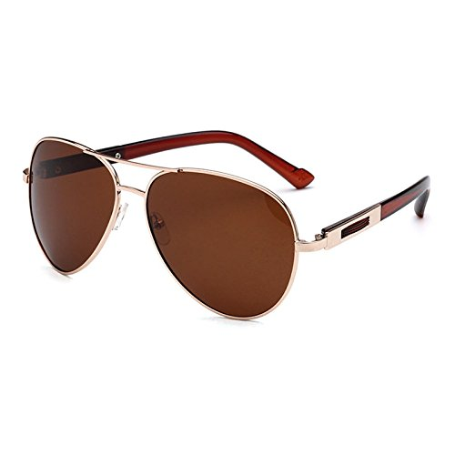 Unisex Colores Sol Gafas Sun De 4 Driving Goldbrown De Polarized Gafas UV400 Metal xOtgFtw