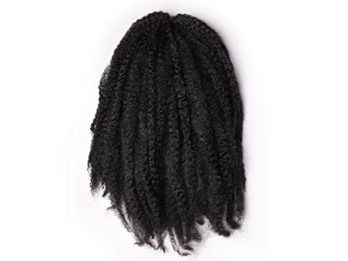 Pack of 3 Afro Kinky Marley Braids Hair Extensions ELEGANT MUSES Kanekalon Synthetic Twist Crochet Braiding Hair 18 inch 100g/pcs