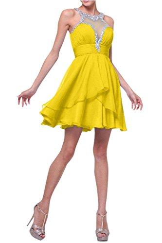 Cocktailkleider Gelb mia Dunkel Wassermelon Chiffon La Kurzes Jugendweihe Partykleider Ballkleider Mini Abendkleider Kleider Braut fOzwpxA