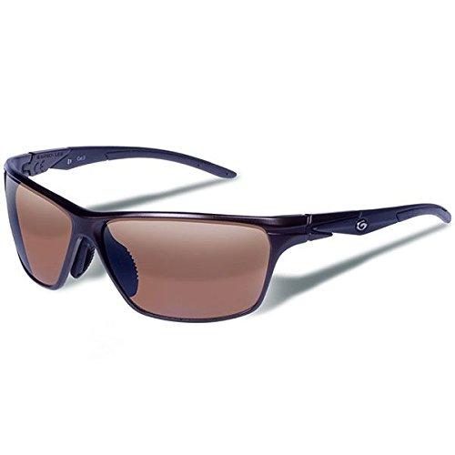 Gargoyles Performance Eyewear Zulu Polycarbonate Safety Glasses, Matte Dark Brown Frame/Brown with Silver Mirror Lenses