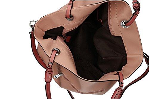 Borsa donna a spalla PIERRE CARDIN rosa apertura zip con tracolla VN1236