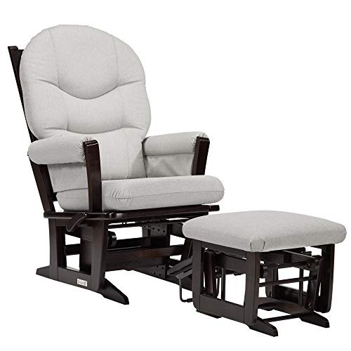 Dutailier Modern 0407 Glider Multiposition-Lock Recline with Nursing Ottoman Included