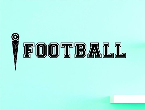 Black 20 x 40 Design with Vinyl US V JER 3585 3 Top Selling Decals Football Wall Art Size 20 Inches X 40 Inches Color