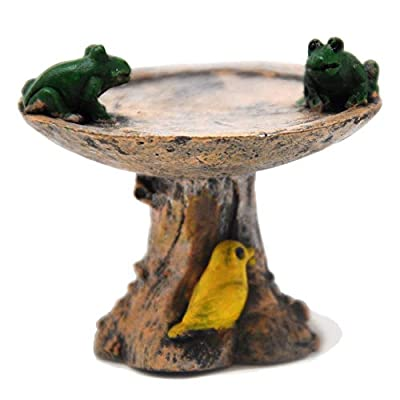 Miniature Fairy Garden Leapfrog Birdbath: Garden & Outdoor