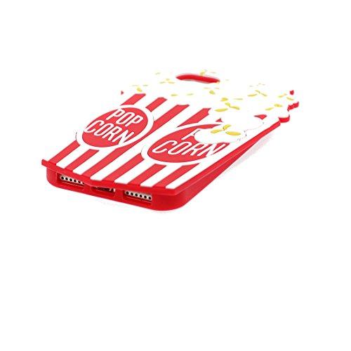 Case iPhone 7 Custodia, palomitas de maíz [Tempo di filmato] Stampato su TPU Back case - Perfetto morbido Soft Thermo Ammortizzatore Paraurti completo protezione antipolvere Copertura iPhone 7 4,7 pol