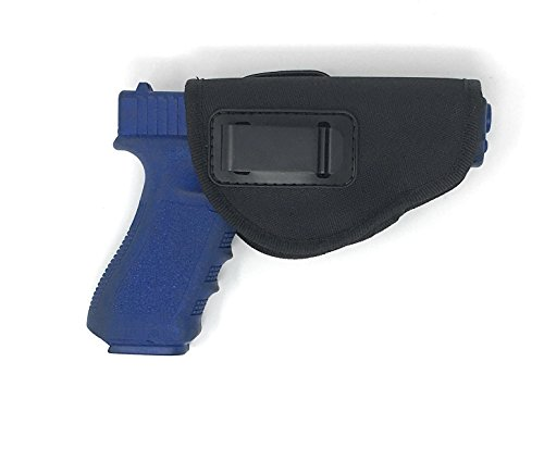 Nylon Gun Holster 4 Positions Inside & Outside by Houston | Fits: Glock, Ruger, Springfield, Sig, S&W, Taurus, H&K | Small, Medium and Large Fit | Linen Inside (Large)