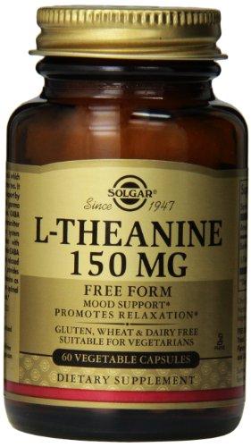 Cápsulas vegetales Solgar L-teanina, 150 mg, 60 Count