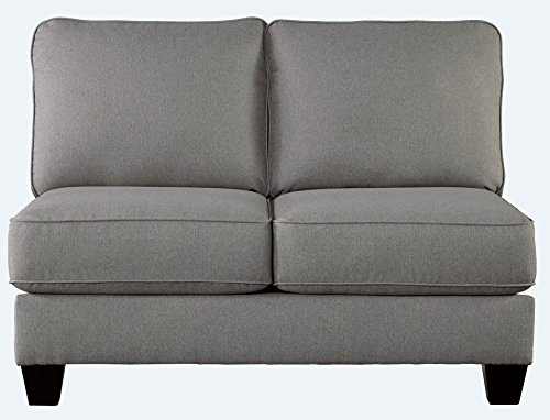Signature Design by Ashley Chamberly Armless Loveseat, Alloy