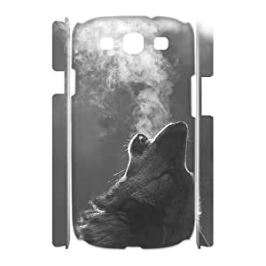 Wolf Brand New 3D Cover Case for Samsung Galaxy S3 I9300,diy case cover ygtg601150