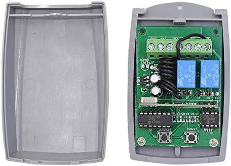 Receptor Universal para Puerta de Garaje Radio Receptor 433.92 MHz en Autoaprendizaje 2 Canales 3A - Alimentación 12-24V AC-DC