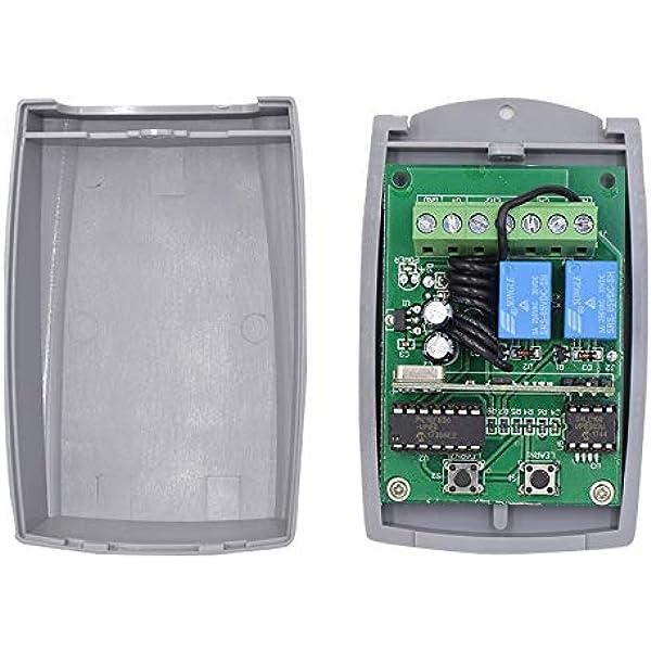 Receptor Universal para Puerta de Garaje Radio Receptor 433.92 MHz en Autoaprendizaje 2 Canales Código Fijo Y Rolling Code 3A 12-24V AC-DC: Amazon.es: Bricolaje y herramientas