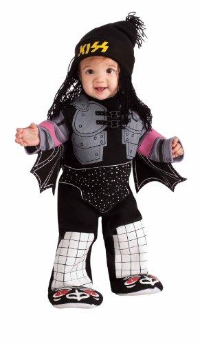 Kiss The Demon Ez-On Romper Costume, Black, Newborn (Demon Costume For Girls)