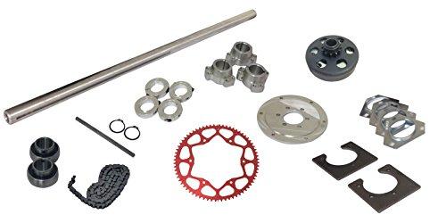 Drift Trike 1-1/4'' Tubular Axle Kit with Clutch (#35 Chain), 40