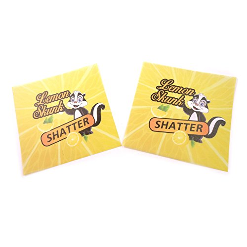 250 Yellow Lemon Skunk Parchment Paper MMJ Terp Non Stick Extract Squares 4 x 4'' PP-050 by Shatter Labels