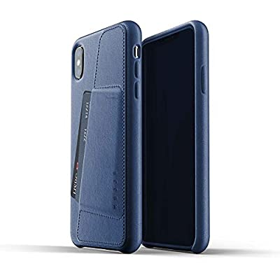 Mujjo Full Leather Wallet Case for iPhone Max Premium Genuine Leather  Natural Aging Effect 2-3 Card Pocket  Wireless Charging  Morocco Blue