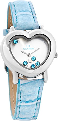 Daniel David Women's | Fashion Aquamarine decorated Heart-Shaped