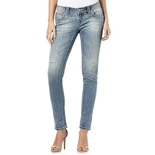Miss Me - Womens Fleur Fortune Skinny Jeans on sale - gilshaham.com