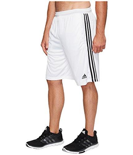 adidas Men's Big & Tall Designed-2-Move 3-Stripes Shorts White/White/Black Shorts