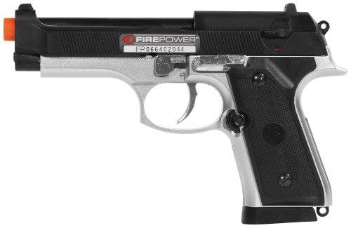 UPC 029858018104, firepower thunder elite spring pistol, black/silver.(Airsoft Gun)