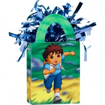 amscan Go Diego Go! Adventure Birthday Party Mini Tote Bag Balloon Weight Decoration, Plastic Foil , 5 Ounces -